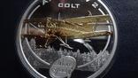 1 доллар 2008 о-ва Кука Ан-2 Кольт серебро+позолота (3.4.3), фото №3