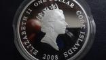1 доллар 2008 о-ва Кука Ан-2 Кольт серебро+позолота (3.4.3), фото №8