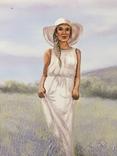Картина, Аромат лаванды, 60х35 см. Живопись на холсте, фото №4