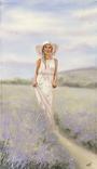 Картина, Аромат лаванды, 60х35 см. Живопись на холсте, фото №5