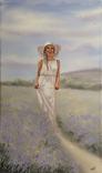 Картина, Аромат лаванды, 60х35 см. Живопись на холсте, фото №6