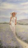 Картина, Аромат лаванды, 60х35 см. Живопись на холсте, фото №7