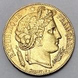 20 франков. 1851. Республика. Франция (золото 900, вес 6,45 г), фото №3