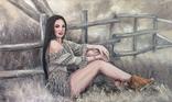 """Картина, """"В стиле Бохо"""", 100х60 см. Живопись на холсте, фото №3"""