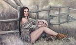 """Картина, """"В стиле Бохо"""", 100х60 см. Живопись на холсте, фото №6"""