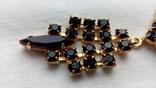 2606 колье чехословакия позолота камни, фото №4
