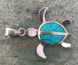 Черепашка с эмалью, серебро 925, Гавайи., фото №5