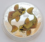 Фэн-Шуй. Карпы Кои, Ниуэ 2 доллара 2012 г. (копия), фото №2