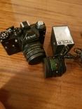 Фотоаппарат ZENIT 11 с объективом Helios + дополнительный объектив+вспышка+чехол, фото №2