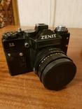 Фотоаппарат ZENIT 11 с объективом Helios + дополнительный объектив+вспышка+чехол, фото №4