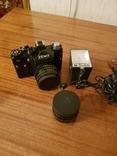Фотоаппарат ZENIT 11 с объективом Helios + дополнительный объектив+вспышка+чехол, фото №6