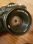 Фотоаппарат ZENIT 11 с объективом Helios + дополнительный объектив+вспышка+чехол, фото №8