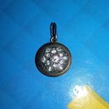 Кулон серебро 925 пробы позолоченый с натуральными камнями, фото №3