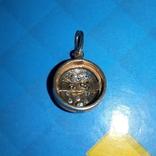Кулон серебро 925 пробы позолоченый с натуральными камнями, фото №4
