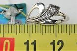 Кольцо перстень серебро 925 проба 1,02 грамма размер 16, фото №5