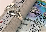 Кольцо перстень серебро 925 проба 1,02 грамма размер 16, фото №7