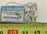 Кольцо перстень серебро 925 проба 4.93 грамма размер 18, фото №6