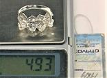 Кольцо перстень серебро 925 проба 4.93 грамма размер 18, фото №8