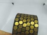 Широкий латунный браслет. (3), фото №5