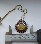 Часы. Гранат. Серебро позолота., фото №3
