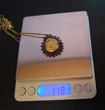 Часы. Гранат. Серебро позолота., фото №5