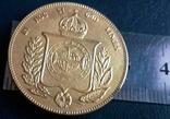 Монета Бразилії 1853 року точна копія Золотої /позолота 999/ не магнітна, фото №3