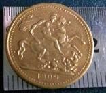 1 суверен 1909року  Великої Британії/копія/., фото №2