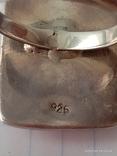 Гарнитур. Набор серьги и кольцо. Серебро 925 проба., фото №7