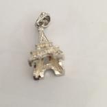 Серебрянный кулон с камнями, фото №4