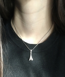 Серебрянный кулон с камнями, фото №7