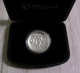 Год Змеи, 2-й Лунар - Высокий рельеф - серебро 999 унция, фото №3