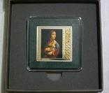 ШЕДЕВРЫ РЕНЕССАНСА - Леонардо Да Винчи «Дама с горностаем» - серебро - ПОЛНЫЙ КОМПЛЕКТ, фото №2