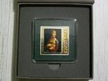 ШЕДЕВРЫ РЕНЕССАНСА - Леонардо Да Винчи «Дама с горностаем» - серебро - ПОЛНЫЙ КОМПЛЕКТ, фото №3