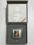 ШЕДЕВРЫ РЕНЕССАНСА - Леонардо Да Винчи «Дама с горностаем» - серебро - ПОЛНЫЙ КОМПЛЕКТ, фото №6