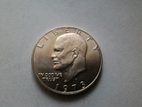 США 1 доллар 1973 S Эйзенхауэр / серебро, фото №4