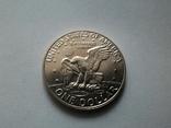 США 1 доллар 1973 S Эйзенхауэр / серебро, фото №5