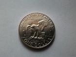 США 1 доллар 1973 S Эйзенхауэр / серебро, фото №6