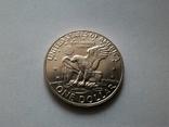 США 1 доллар 1973 S Эйзенхауэр / серебро, фото №7