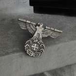 Винтажный крест брошь с орлом Реплика, фото №5