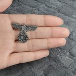 Винтажный крест брошь с орлом Реплика, фото №9