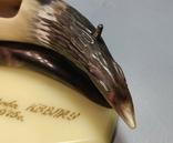 Подставка под ручки ручной работы с рога. КВВПКУ 1975год. Военное училище., фото №6