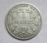 1 марка 1873 г. (А) Германия, серебро, фото №3