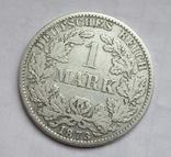 1 марка 1873 г. (А) Германия, серебро, фото №4