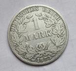 1 марка 1873 г. (А) Германия, серебро, фото №5