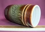 Кружка для пива Настоящий Budvar - БУДВАР крепкое пиво. Чехословакия 60-70е годы., фото №9