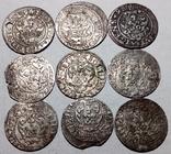 Солиды рижские 1591, 95, 98, 1611, 12, 14, 15, 16 (9 шт.)