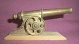 Пушка на лафете - настольный сувенир из СССР., фото №2