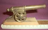 Пушка на лафете - настольный сувенир из СССР., фото №7