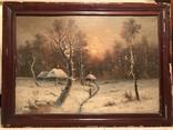 Зимний пейзаж. Неизвестный художник, фото №2