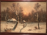 Зимний пейзаж. Неизвестный художник, фото №3